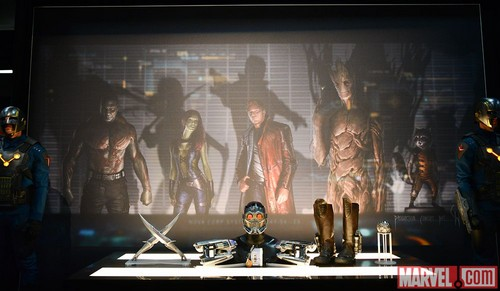 Guardians of the Galaxy 바탕화면 called GoTG Movie Props on the Marvel Stage