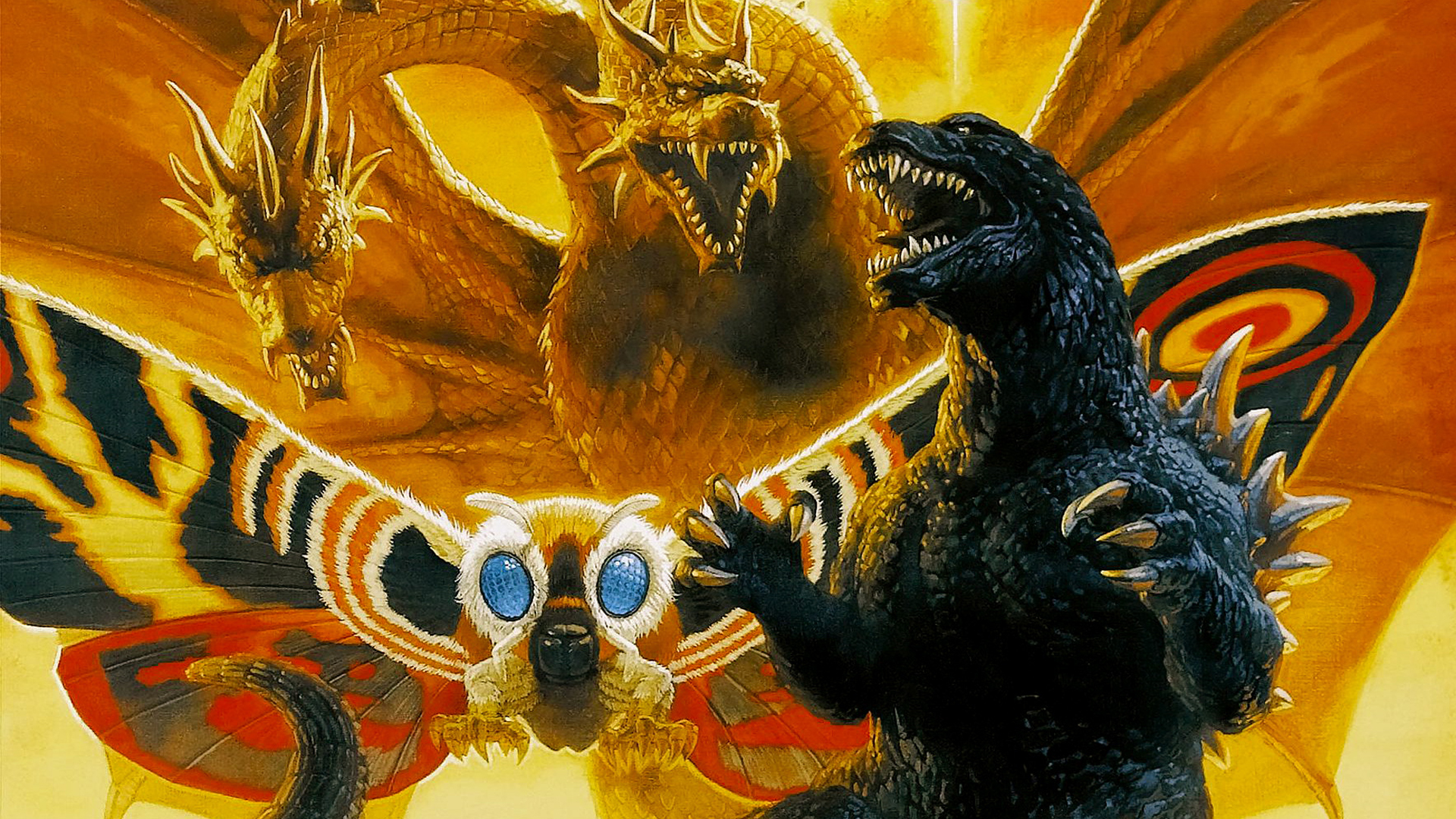 Godzilla, Mothra and King Ghidorah hình nền