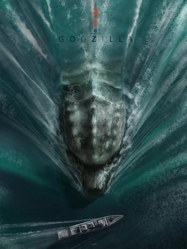 Godzilla achtergrond titled Godzilla Poster