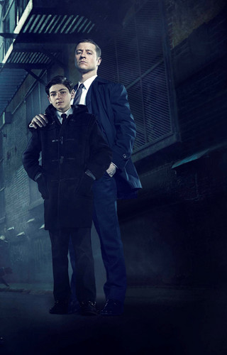 Batman wallpaper with a business suit, a suit, and a well dressed person called Gotham - Bruce/Gordon