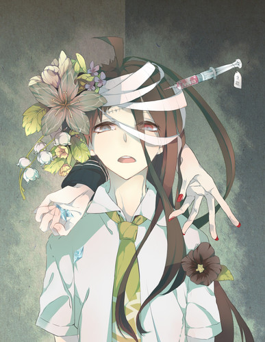 Dangan Ronpa वॉलपेपर possibly containing a bouquet called Hajime Hinata