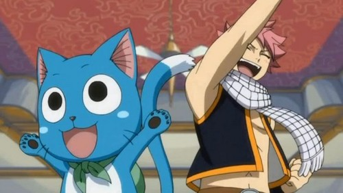 Fairy Tail wallpaper possibly with Anime called Happy and Natsu