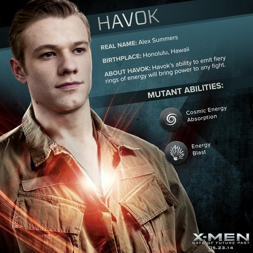 X-Men 壁纸 probably with a green 贝雷帽 titled Havok / Alex Summers 'X-men: Days of Future Past' Dossier