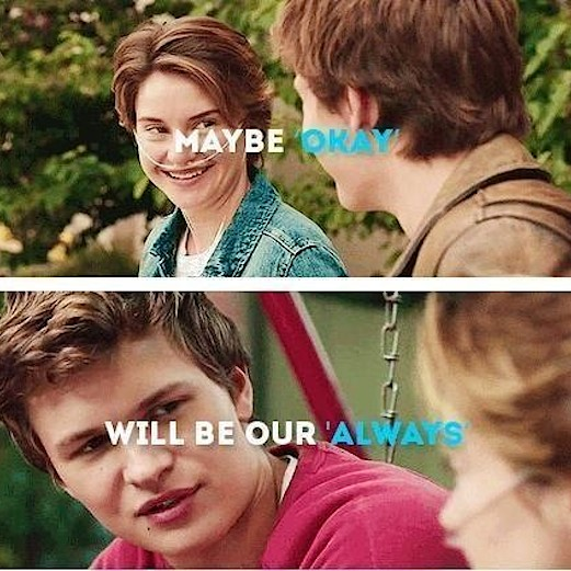 The Fault In Our Stars Augustus And Hazel Stars hazel and augustus