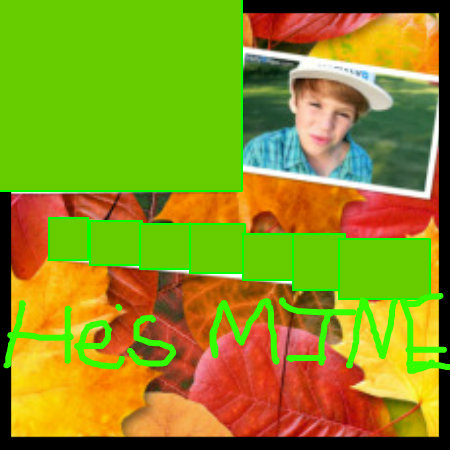 Matty B Raps achtergrond possibly containing a sign entitled Hes MINE not yours
