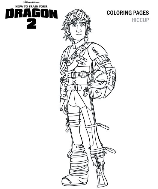 Hiccup Coloring Page How To Train Your Dragon Photo
