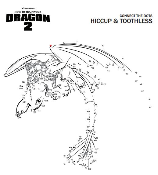 Hiccup and Toothless Connect the Dots