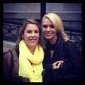 Hilarie burton with a fan