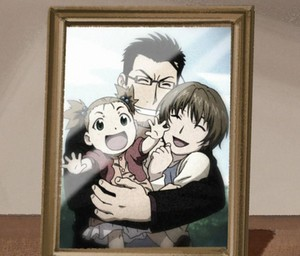 Hughes and his family