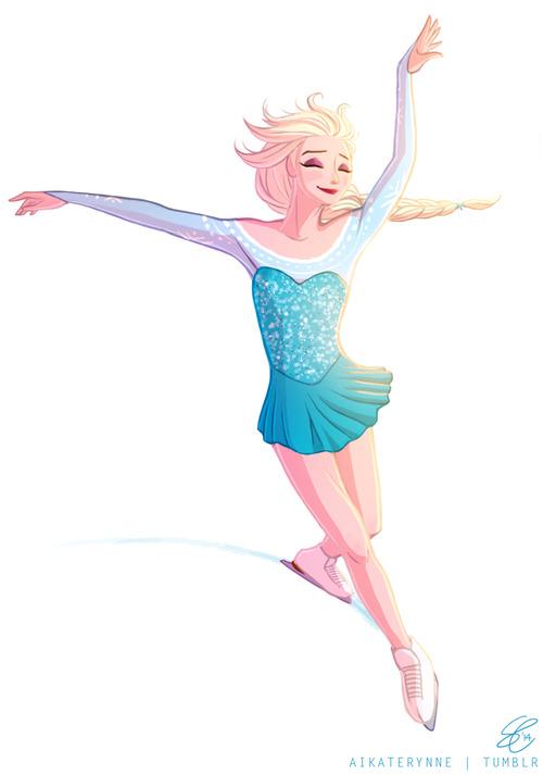 Ice Skating Frozen Fan Art 37077351