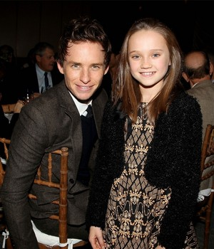 Isabelle Allen and Eddie Redmayne