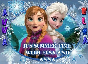 It`s summer time with elsa and Anna