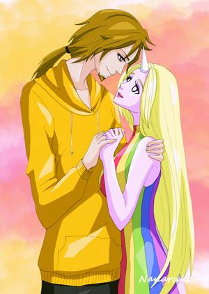 Jake and Princess Lady Raincorn!