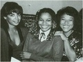 Janet With Her Two Sister-In-Laws, Carol And Enid - janet-jackson photo