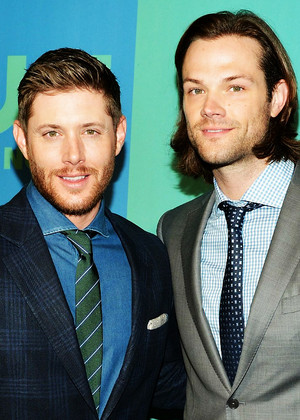Jensen and Jared at the CW Network's 2014 Upfront Presentation