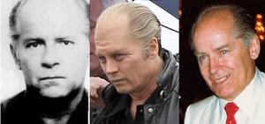 Johnny Depp as Whitey Bulger on set