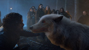Jon Snow and Ghost Season 4