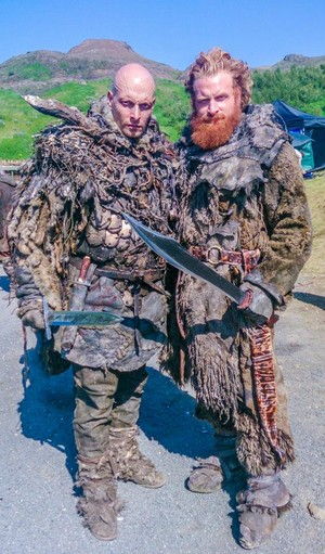 Joseph Gatt (Thenn Warg) and Kristofer Hivju (Tormund Giantsbane)