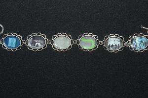 Joy Division album cover art bracelet