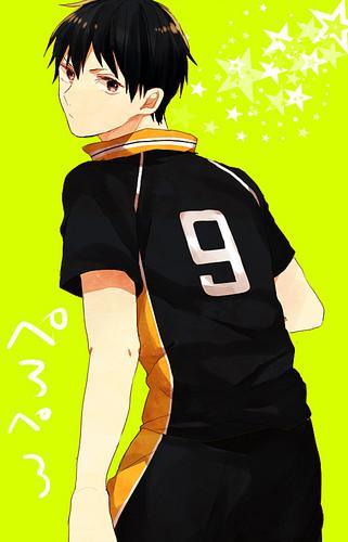 Haikyuu!!(High Kyuu!!) Hintergrund titled Kageyama Tobio