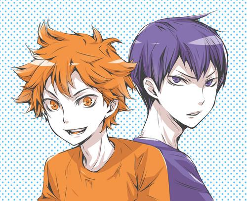 Haikyuu!!(High Kyuu!!) wallpaper with anime entitled Kageyama and Hinata