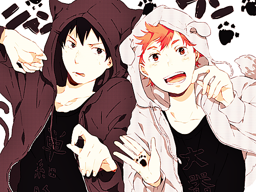 Haikyuu!!(High Kyuu!!) wallpaper possibly with anime entitled Kageyama and Hinata