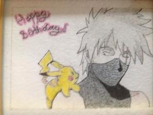 Kakashi and Pikachu drawing. :P