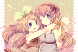 Vocaloids wallpaper probably with a bouquet entitled Luka and Rin