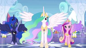 Luna, Celestia, and Cadance