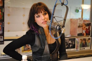Lzzy Hale at the studio