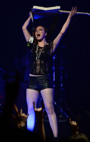 Lzzy Hale on the concert