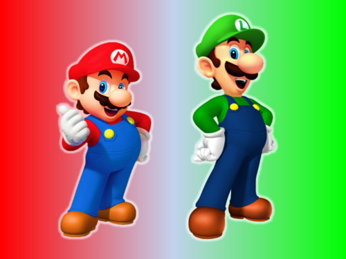 Super Mario Bros wallpaper probably containing Anime entitled Mario and Luigi