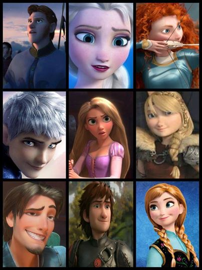 Mashed up characters