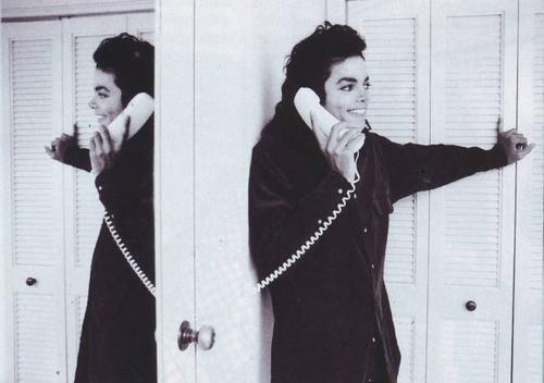 Michael Talking On The Phone
