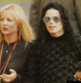 Michael and Karen  - michael-jackson photo