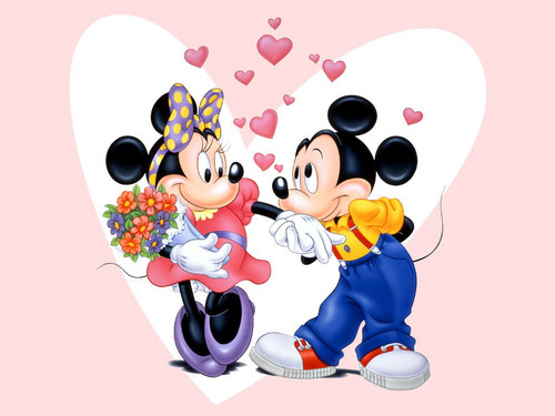 Disney achtergrond titled Mickey and Minnie