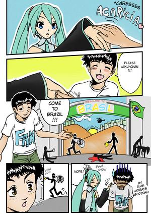 Miku-chan venha para o BRASIL!!!