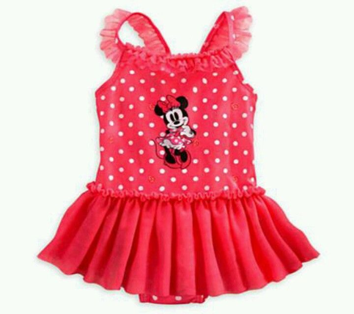 Minnie Mouse Swimsuit For Little Girls