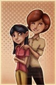 Mother and daughter, Helen and violet. Happy Mother's Day - pixar fan art