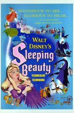 "Movie Poster For The 1959 ディズニー Cartoon, ""Sleeping Beauty"""