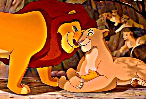 Mufasa, Sarabi and baby Simba