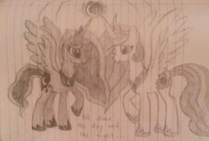 My Celestia and Luna Drawing