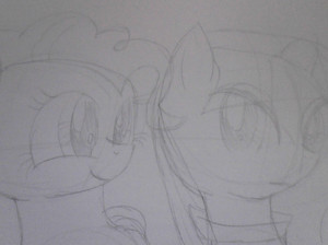 My Pinkie and Maud sketch
