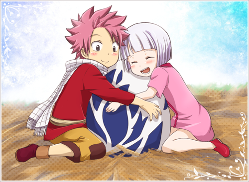 Fairy Tail wallpaper with anime entitled Natsu Dragneel and Lisanna Strauss