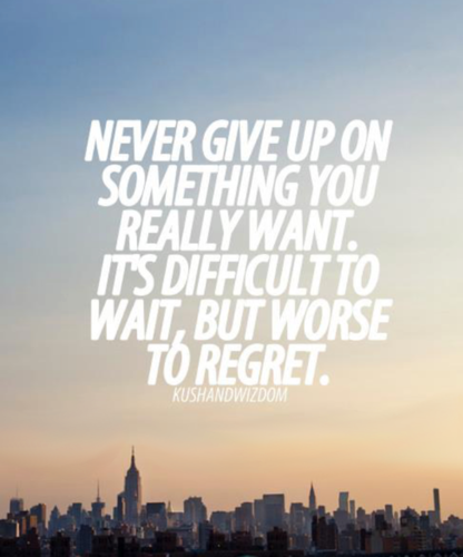Quotes wallpaper containing a business district and a sunset called Never Give Up...