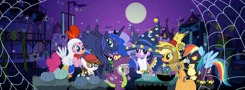 My Little ngựa con, ngựa, pony - Friendship is Magic hình nền called Nightmare Night