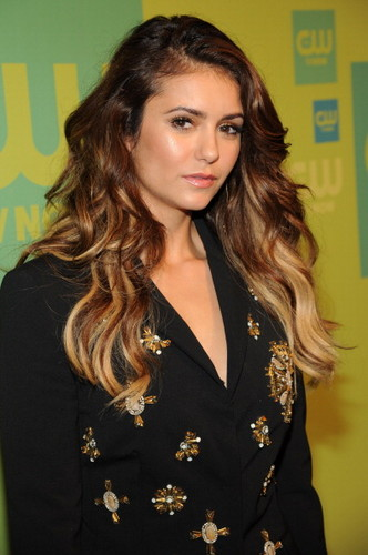 Nina Dobrev wallpaper probably with a well dressed person, an outerwear, and a box coat called Nina @ The CW Upfronts (15th May, 2014)