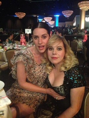 Paget Brewster and Kirsten Vangsness