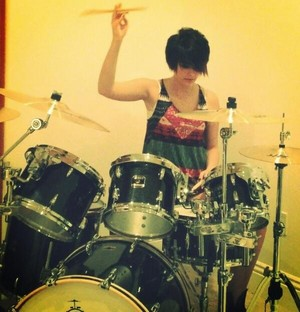 Paris Playing The Drums
