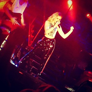 Perrie on stage!